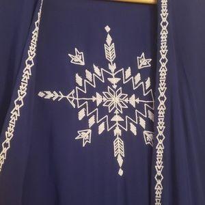 Tops - Southwest style fringe kimono Medium